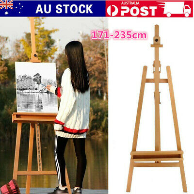 Wooden Tripod Art Easel Sketch Drawing Artist Painting Foldable 235CM