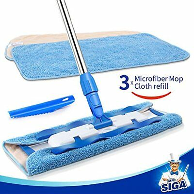 MR. SIGA Professional Microfiber Mop,Stainless Steel Handle - Pad Size: 42cm 1