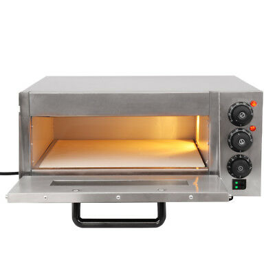 Kitchen Electric Pizza Oven single Deck Commercial Baking Fire Stone Catering