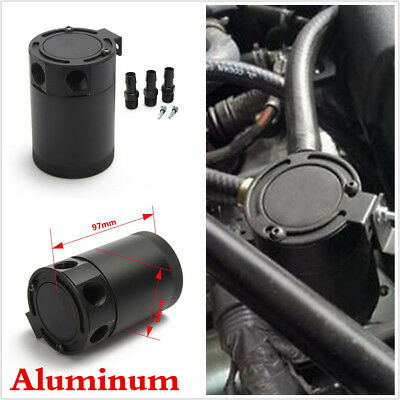 3-Port Aluminum Alloy Car Engine OIL BREATHER TANK CATCH CAN Oil Separator New