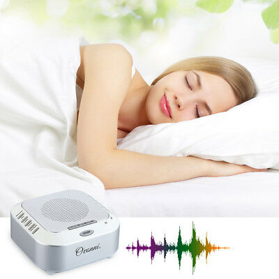 Adult Baby Sleep Soothing Sound Machine White Noise With 5 Sounds Home Office