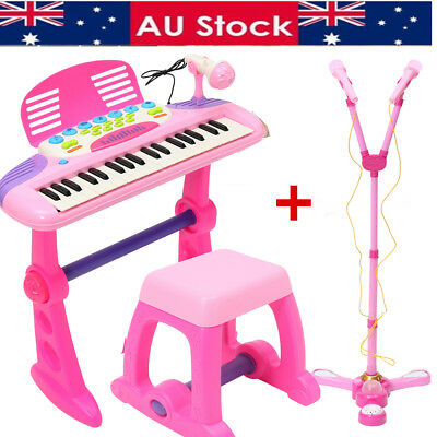 37 Key Kids Electronic Keyboard Piano Organ Music Play Toy & Double Microphone
