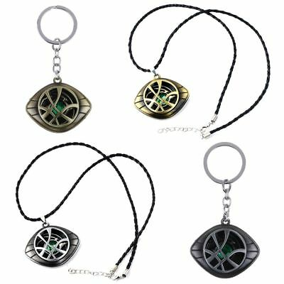 Dr Doctor Strange Pendant Eye of Agamotto Necklace Cosplay Marvel Prop Keychain