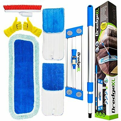 "Professional 18"" Microfiber Flat Mop Kit + 3 Replacement Wet & Dry Refill Tile -"