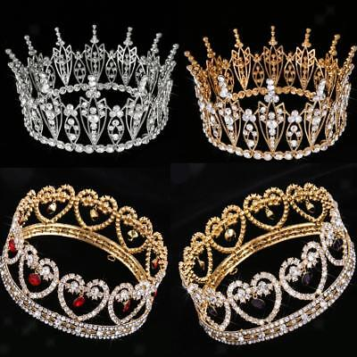 Bride Head Jewelry Baroque Heart Insect Tiara Crown Women Retro Headband Crystal