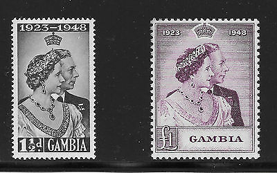 Gambia Sg 164 - 165 Silver Wedding £1 Is Mnh