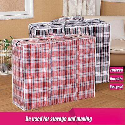 Extra Large Jumbo Laundry Shopping Bag Zipped Toy Storage Strong Reusable Bags