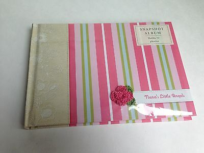 "NEW! Hallmark Baby Photo Album, NANA'S LITTLE ANGELS, Holds 32 4x6"" Photos"