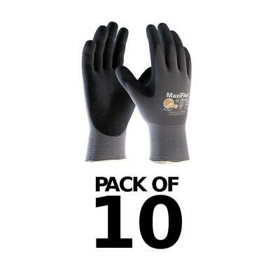 12 x size 9//L ATG MaxiFlex Ultimate Nitrile Foam Work Gloves Breathable/&Light
