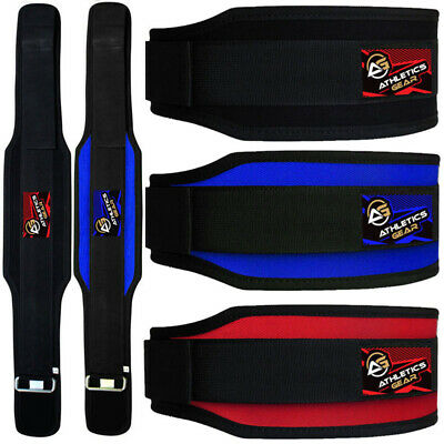 Weight Lifting Belt Gym Back Support Power Training Work Fitness Lumber Pain KS