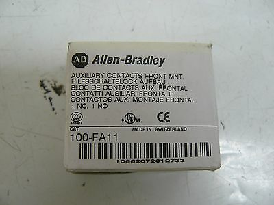 New Allen Bradley 100-Fa11 Auxiliary Contact Block, Front Mounting, 1 N.o.