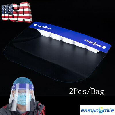 Dental Face Shield 1 Frame with 10 pcs Detachable Protective Ultra-light Masks