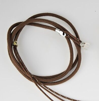 Vintage Antique Cloth Covered Telephone Cord - Handset  - Brown - SKU - 30004