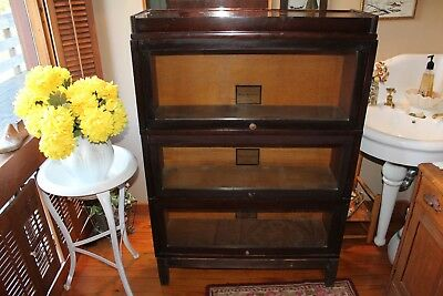 Melton Rhodes Co. Greensboro NC. Barrister Bookcase 3 Section Glass Front
