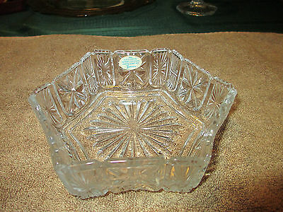 Vintage Avon Fostoria Clear Crystal Bowl/candle Holder