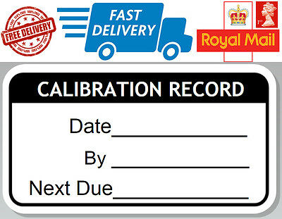 48 x Calibration Record Labels Next Due Reminder Stickers