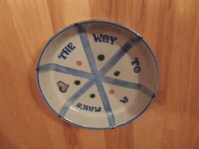 Vintage M.A. Hadley The Way To A Man's Heart Pie Plate Dish