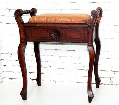 Antique MAHOGANY DRESSING STOOL - FREE Shipping [PL4225]