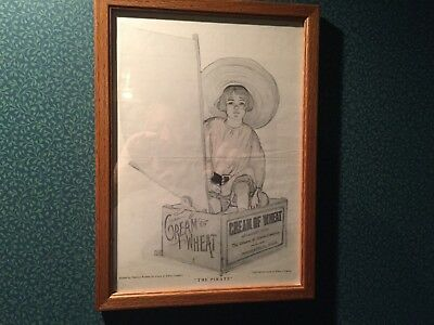 """Vintage Orginal Cream of Wheat Ad 1920's, """"The Pirate"""" by Florence Wyman"""