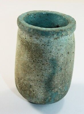 Ancient Egyptian Blue Faience Funerary Cup New Kingdom c.1200 BC