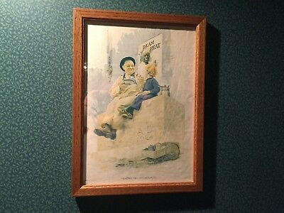 """Vintage Original 1921 Cream Of Wheat Ad """"Laying The Cornerstone"""" by E. Brewer"""