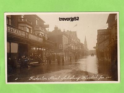 Fisherton Street (B) Salisbury Flood Flooding 1915 unused RP pc  Ref B506