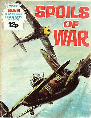 1977  No 1437  20261 Vintage War Picture Library Comic  SPOILS OF WAR