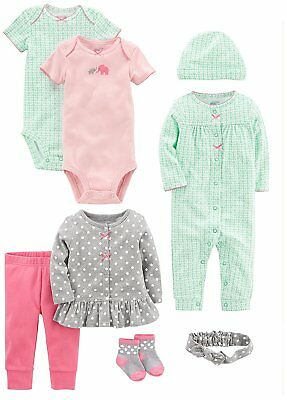Simple Joys by Carters Baby Girls 8-Piece Gift Set Pink Teal Gray 18 Months