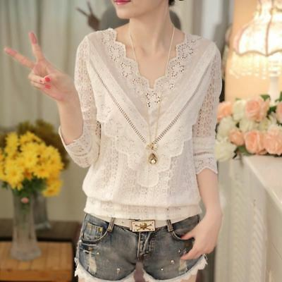2016 hot sale new arrival Spring and  autumn Korean fashion women blouse V neck