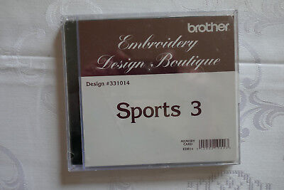 Brother Stickkarte Sports3 Embroidery Design Boutique 10 x 10cm