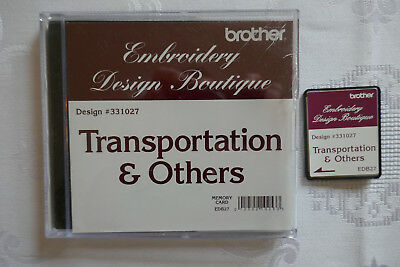 Brother stickkarte Transportation & Others Embroidery Design Boutique 10 x 10cm