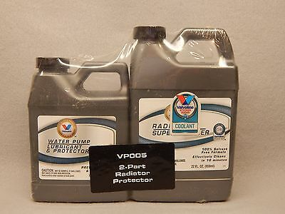 Valvoline 2 Part Radiator Protector VP005 Water Pump Lube Radiator Super Cleaner