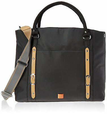 PacaPod Mirano Black Designer Baby Changing Bag - Luxury Black Tote 3 in 1