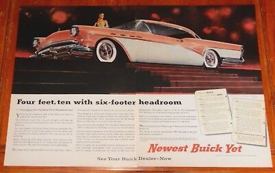 AWESOME 1957 BUICK CENTURY COUPE LARGE AD - VINTAGE 50s AMERICAN FIFTIES