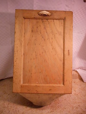 """Hoosier Cabinet Flour Pull Out Drawer, Nice Tin & Wood & Handle, 18 X 12 x 8.5"""""""