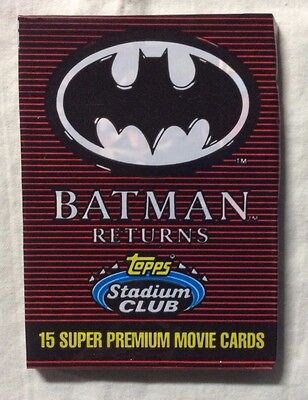 Batman Returns Stadium Club single card pack (Topps, 1991)