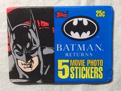 Batman Returns single card pack Movie Photo Stickers (Topps, 1992)