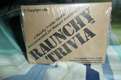 BRAND NEW SEALED Raunchy Trivia Game 1984 RARE HTF ONLY ONE ON EBAY!