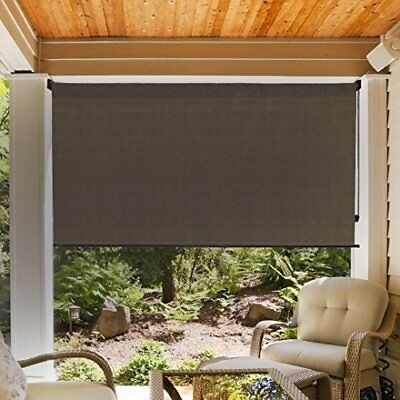 OUTDOOR PORCH SHADES Window Patio Blinds Indoor Roll Up Deck Sun ...