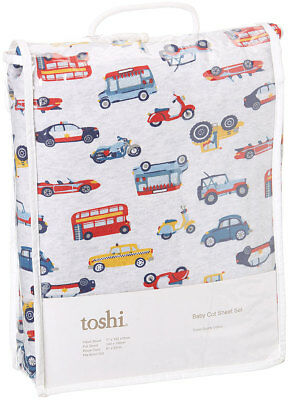 Toshi Baby boys Cot Sheet Set  cars vroom fit boori cots
