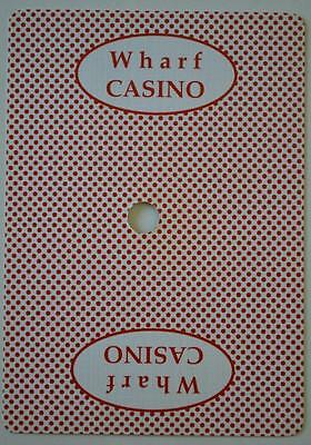 Authentic Wharf Casino, Queenstown, New Zealand - Red playing cards