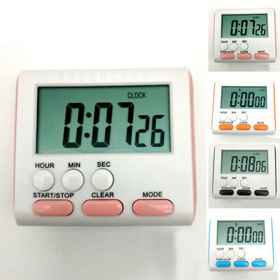 Magnetic Large LCD Count Up Kitchen Cook Timer Alarm Down Digital Clock 24h SALE