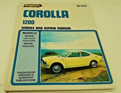 1970 1971 1972 1973 1974 1975 1976 1977 1978 TOYOTA COROLLA 1200 Workshop Manual