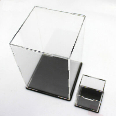 Acrylic Cube Display Stand 5 Sided Box Perspex Case Assembled DIY Model Hood