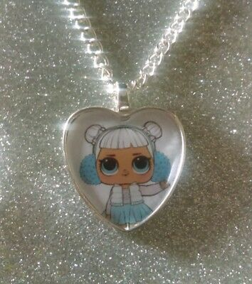 Silver Plated Heart Pendant Necklace LOL Doll Pharaoh Babe