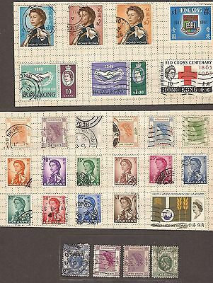 Hong Kong ( One With China Overprint )  Stamps Used Mixed Lot