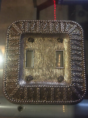 Amer Tack Solid Cast Vintage Antique Metal Wall Double Light Switch Plate Cover