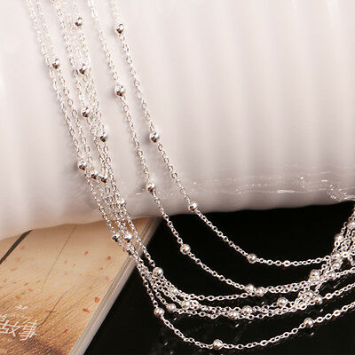 Sweater Chain Jewelry High Quality Silver Plated Chain Pendant Necklace Women