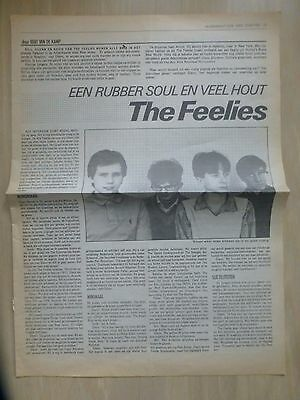 The Feelies ( Fullpage A3 Format/ Dutch Mag Oor - May 21, 1980