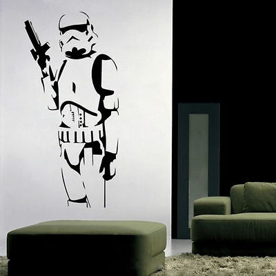 Stormtrooper Star Wars Wall Sticker Removable Decal Vinyl Mural Kids Home Decor